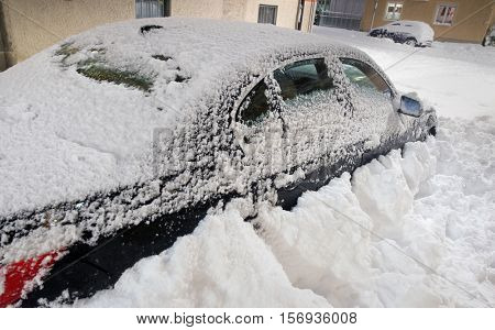 The roads are snow-blocked