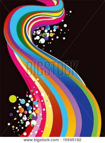 Rainbow background with splotchy circles
