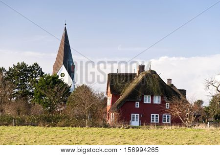 Church of Nebel on Amrum in Germany