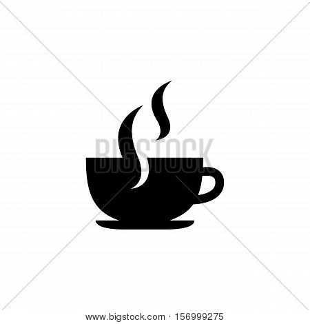 Coffee Cup vector icon. Simple isolated symbol