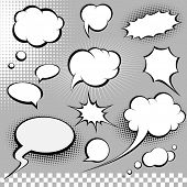 stock photo of pop art  - comic speech bubbles - JPG