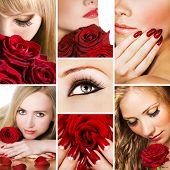 Постер, плакат: Коллаж из нескольких фотографий для индустрии красоты и моды