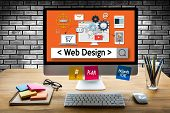 Web Design Software Media Www And Website Design Responsive Web Design poster