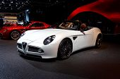 PARIS, FRANCE - OCTOBER 02: Paris Motor Show on October 02, 2008, showing Alfa Romeo 8C Competizione