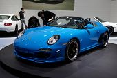PARIS, FRANCE - SEPTEMBER 30: Porsche 911 Speedster at Paris Motor Show on September 30, 2010 in Par