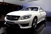 PARIS, FRANCE - SEPTEMBER 30: Paris Motor Show on September 30, 2010, Mercedes-Benz CL63 AMG, front