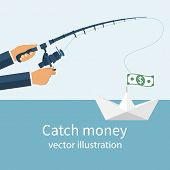 Постер, плакат: Catch Money Concept