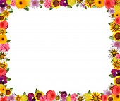 Colorful floral frame with space for copy pic.