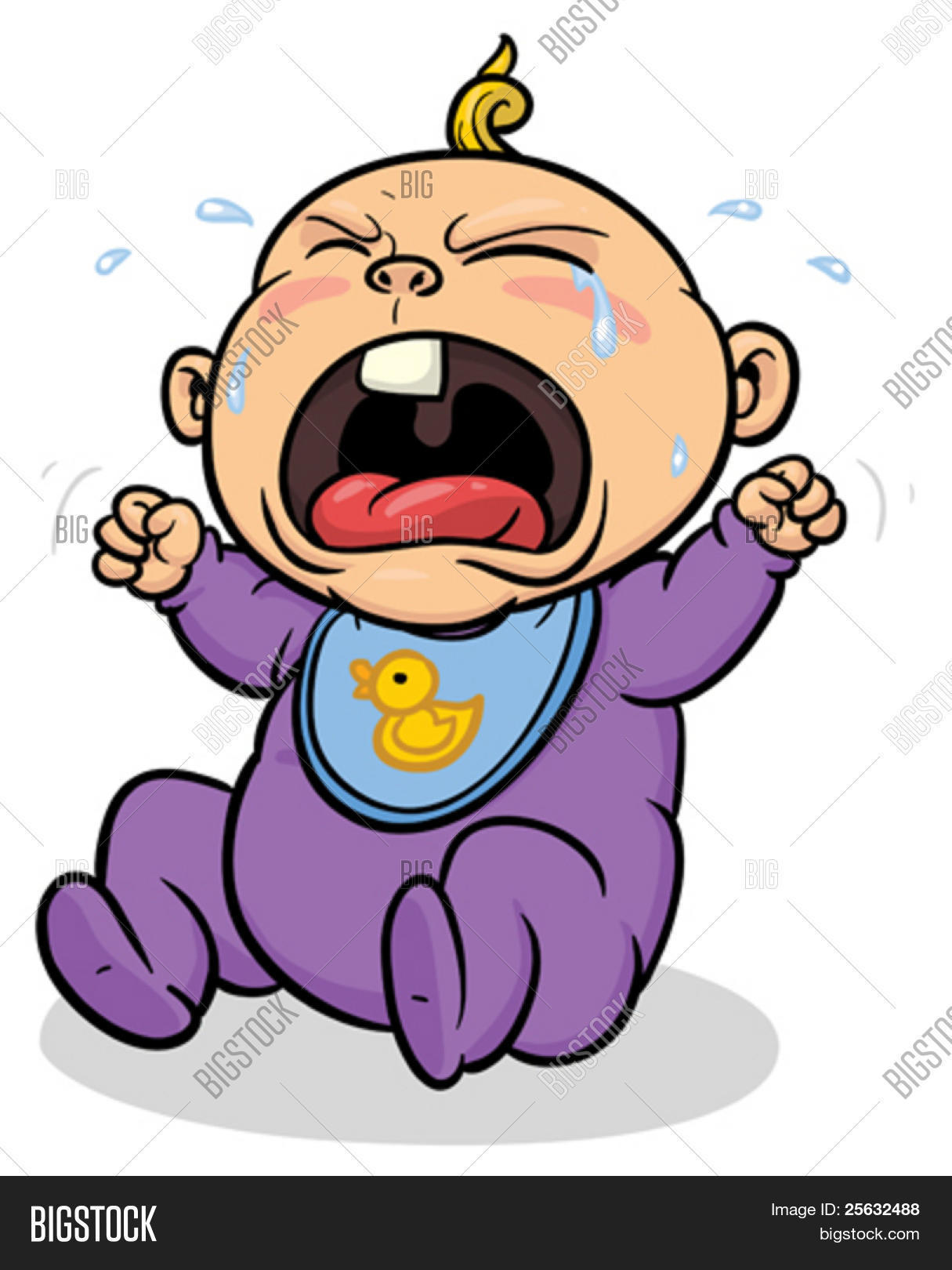 Cartoon Baby Crying Vector & Photo | Bigstock