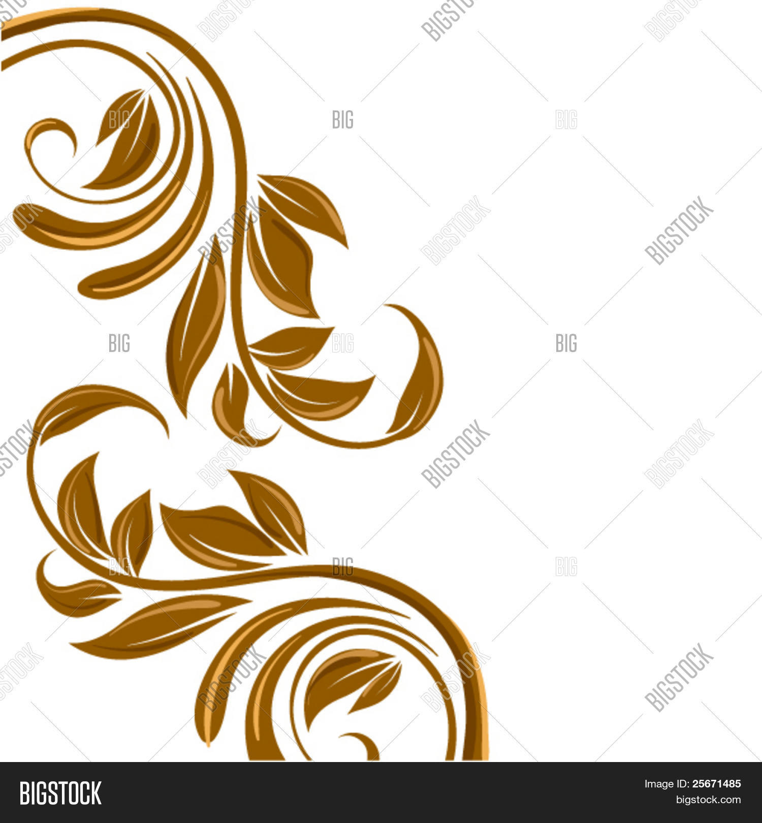 gold floral border swirl flower vector amp photo bigstock