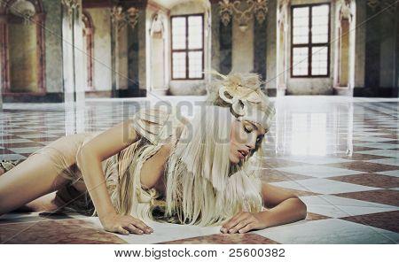 Hampel Foto einer Frau hübsch Eleganz Interieur
