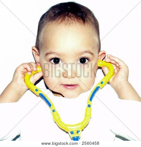 Baby With Stetoscope