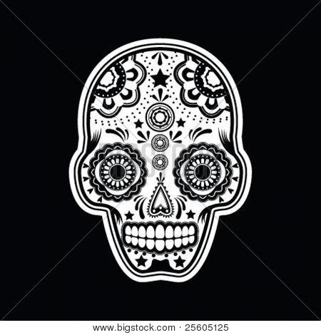 illustration of a mexican sugar skull