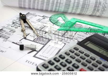 architectural plan & tools