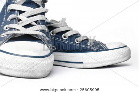 canvas sneakers isolated on white