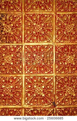 Texture Background Stucco On Wall Of Temple