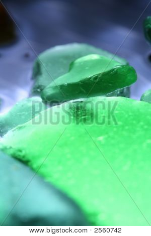 Beach Glass Background