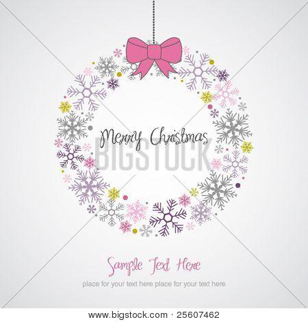 Christmas Wreath Design Card