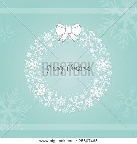 Christmas Snowflake Wreath
