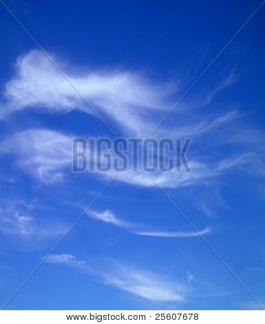 cirrus cloud on blue sky