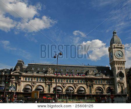 wide view of the gare de lyon, paris, france