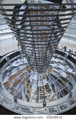 centre piece in the middle of the reichstag, berlin, germany