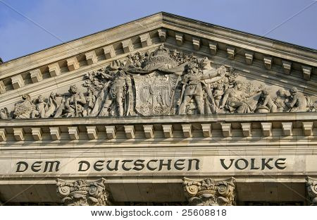 close up of the reichstag's