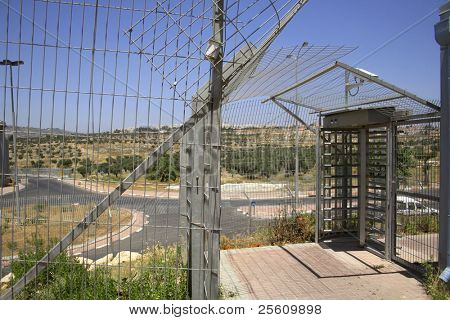 wall separating israel with the west bank, palestine, israel