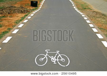 cyclelane sign on tarmac road