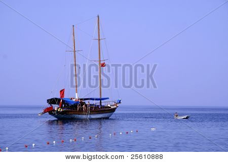boat on sea in south turkey