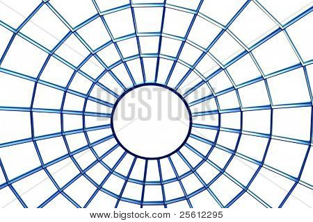 Roof top window web on white isolated background