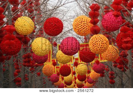 Chinese, Lunar, New Year Large Decorations Ditan Park, Beijing, China