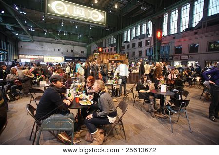 BERLIN - JANUARY 21: Restaurant area at Bread & Butter fair on January 21, 2011 in Berlin, Germany. Tens of thousands of visitors attended the tradeshow this year.