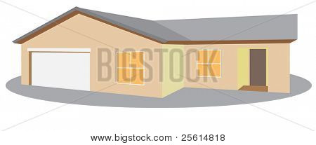 One storey house - raster version (vector available)