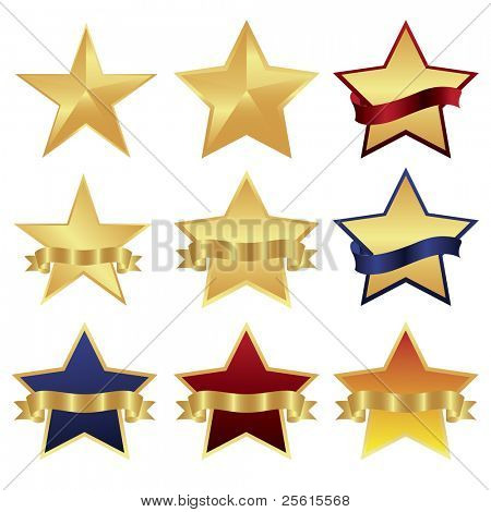 Raster star design set (vector available in portfolio)