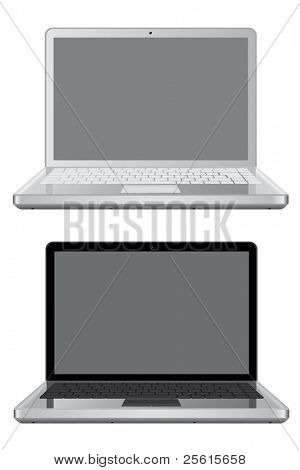 Raster version of Isolated laptops  (vector available in portfolio)
