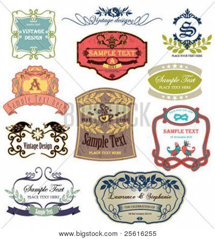 vintage labels collection 3