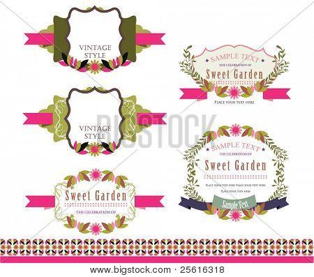 Floral label
