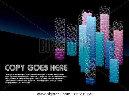cool dimension box background design