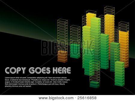 green dimension box background design