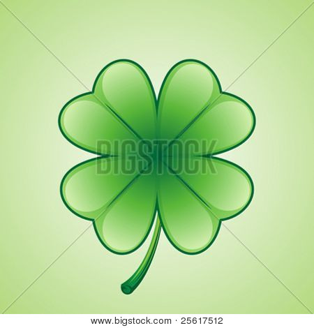 Lucky shamrock illustration, St. Patrick's Day