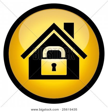 Home security icon.