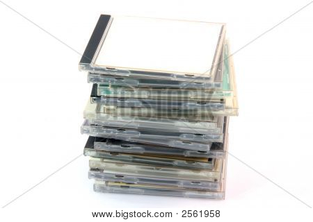 Pile Of Cd Cases