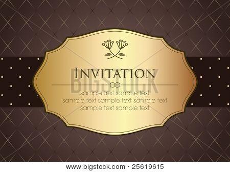 Invitation Card in Retro Style