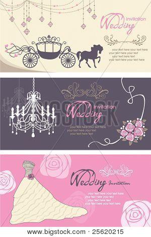 Plantilla de diseño de tarjetas de boda