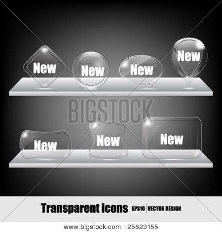 eps10 vector set of transparent icons