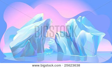 Abstract  Mysterious Blue Iceberg