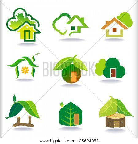 NEW- BIO GREEN HOUSES ICONS