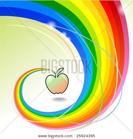 Apple a Day - Abstract Rainbow Pencil Series