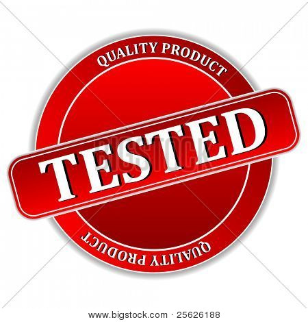 illustration of tested icon on white background